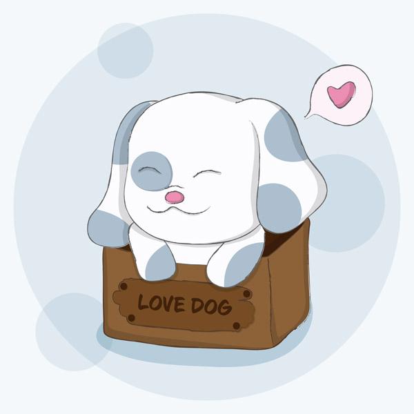 可爱的爱心狗_素材中国sccnn.com