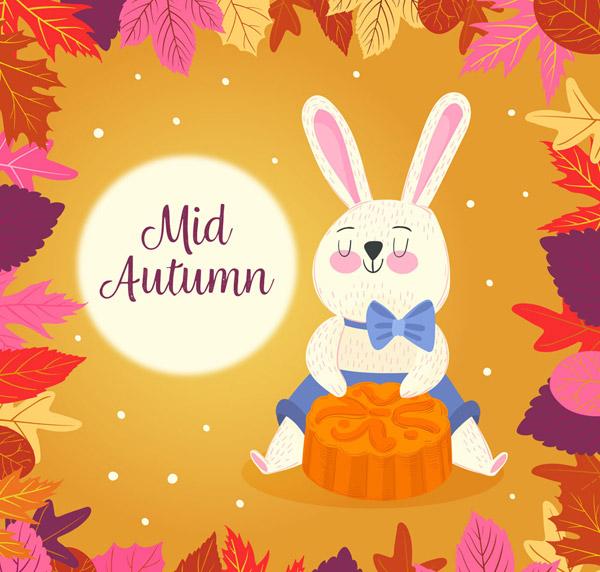 素材分类: 矢量中秋节所需点数: 0 点 关键词: 可爱中秋节兔子和月饼