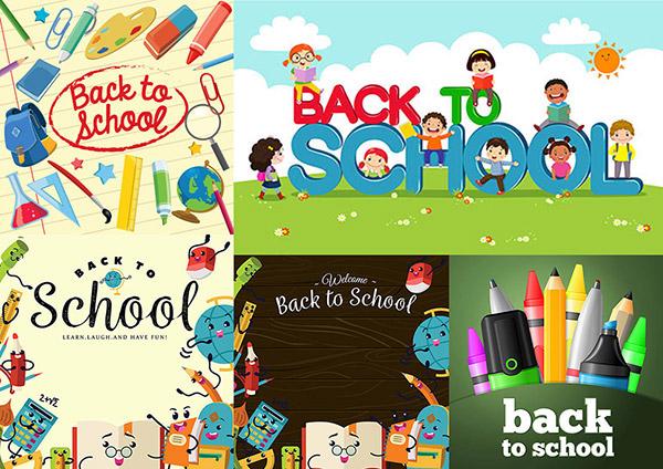 文具与卡通风格的学生人物矢量素材下载,矢量素材,矢量图,设计素材,创意设计,卡通,可爱,学生,儿童,直尺,铅笔,书本,计算器,文具,木板,立体字,看书,草地,草坪,太阳,小花,花朵,小男孩,小女孩,立体字,木板,曲别针,放大镜,地球仪,三角板,烧瓶,书包,开学,上学,学习,画笔,彩笔,BackToSchool,EPS