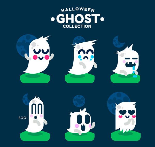 万圣节卡通幽灵