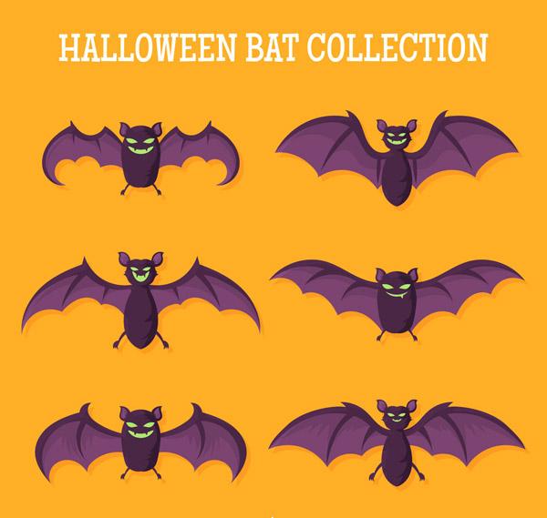 卡通万圣节蝙蝠