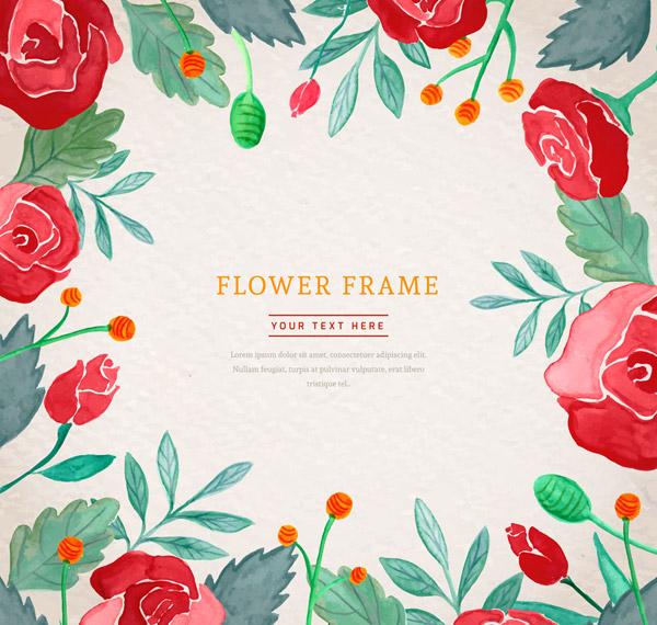 彩绘玫瑰花框架