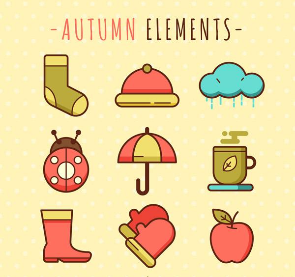 可爱秋季元素龙8国际娱乐