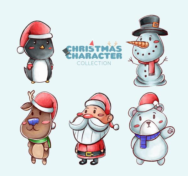 手绘可爱圣诞
