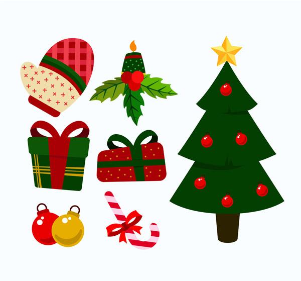 0 点 关键词: 7款彩色圣诞节元素矢量素材,手套,枸骨,蜡烛,礼物,礼盒