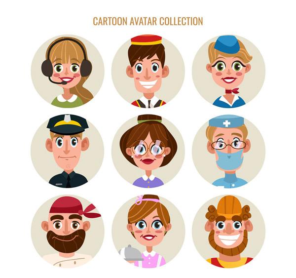 卡通职业人物头像