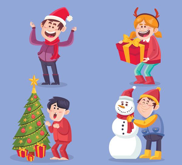 卡通圣诞节人物