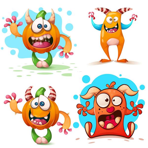 卡通南瓜怪兽