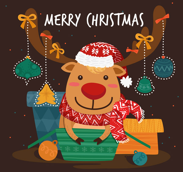 可爱圣诞节驯鹿