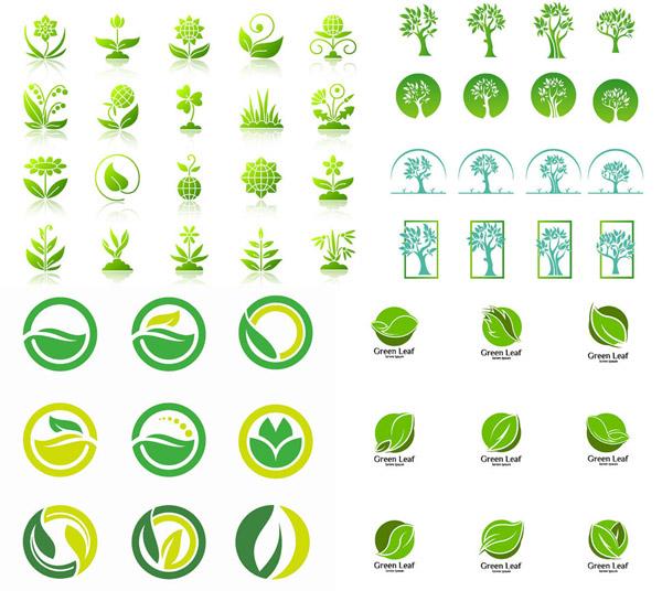 绿叶元素标志