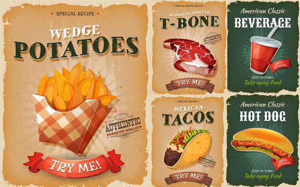 薯条与热狗海报
