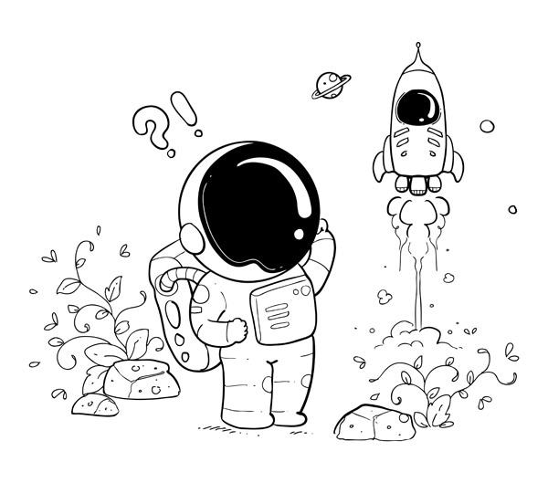 画火箭的步骤和图片