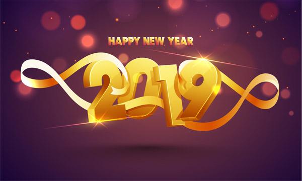 0 点 关键词: 新年快乐2019年背景,新年快乐,立体字,2019年,猪年