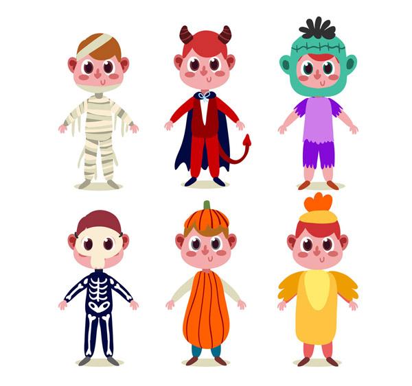 素材分类: 万圣节所需点数: 0 点 关键词: 6款可爱万圣节装扮男孩