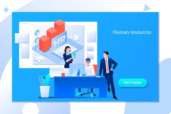 人力资源概念插画