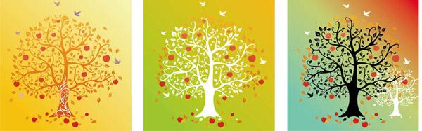 树木元素插画挂画