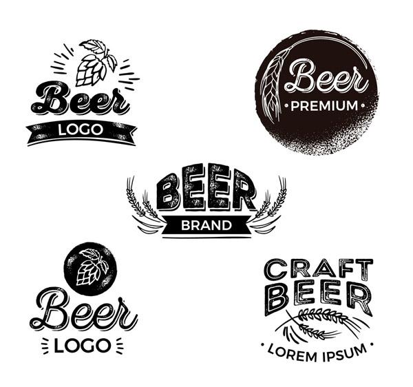 黑色啤酒标志设计