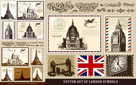 英国 卡通 明信片