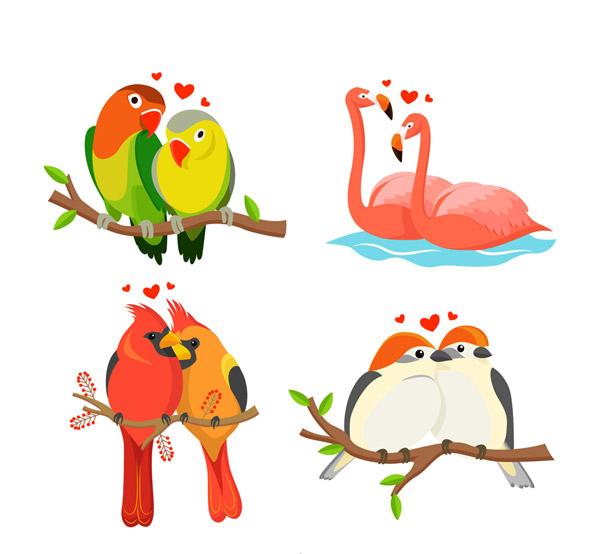 素材分类: 矢量野生动物所需点数: 0 点 关键词: 4款彩色动物情侣