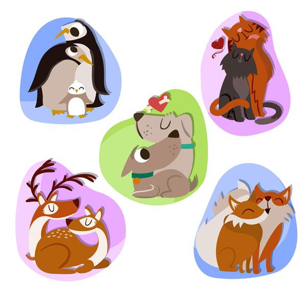 猫,卡通,动物,情侣,矢量图,ai格式 下载文件特别说明:本站所有资源