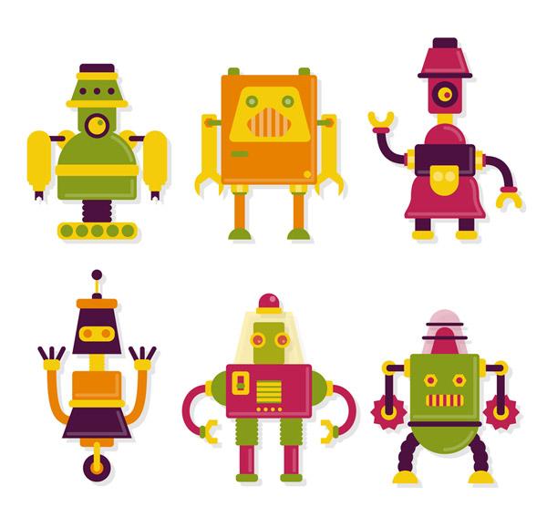 拼色机器人矢量
