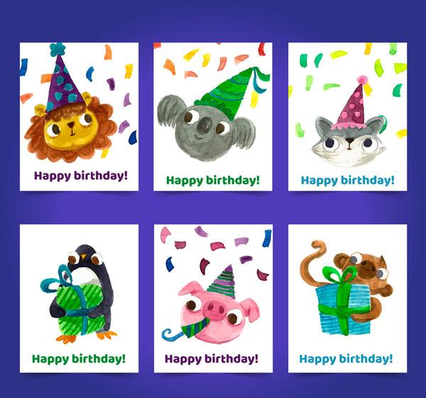 动物生日卡片