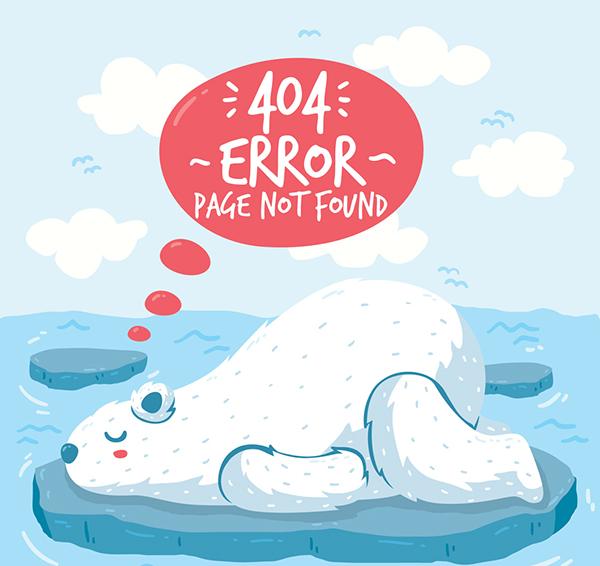 北极熊404错误页