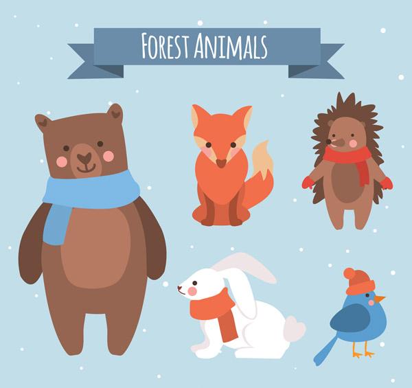 素材分类: 矢量卡通动物所需点数: 0 点 关键词: 5款创意微笑冬季