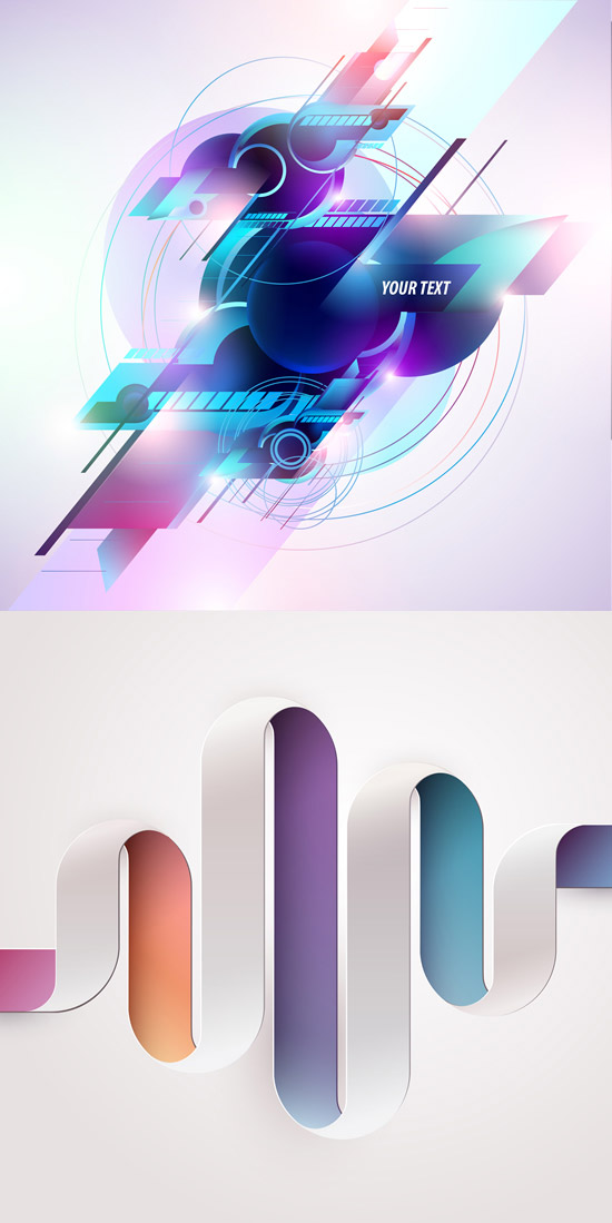 绚丽色彩图形背景矢量素材,绚丽色彩,图形背景,线条,色块,圆圈,扭曲