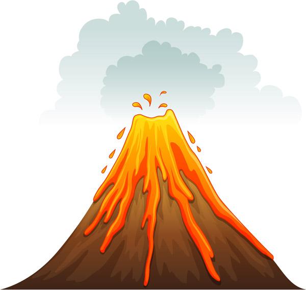 火山爆发矢量