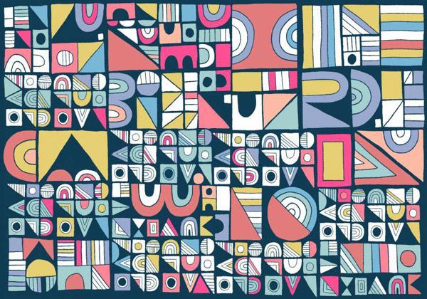 现代的几何图案