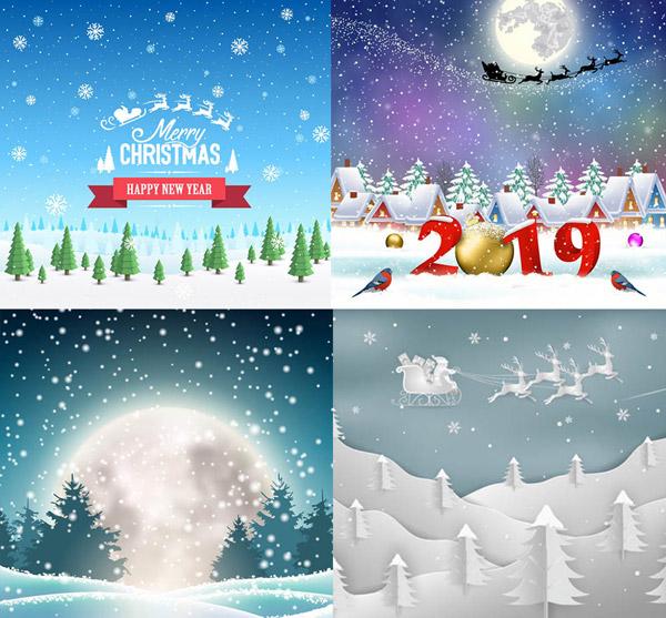 圣诞唯美雪景