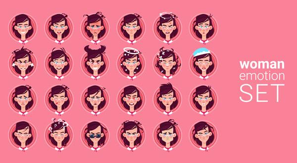 女性表情龙8国际娱乐