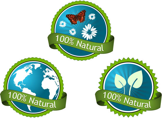 绿色标签,丝带,世界地图,百分百,蝴蝶,花朵,叶子,圆形贴纸,自然标贴