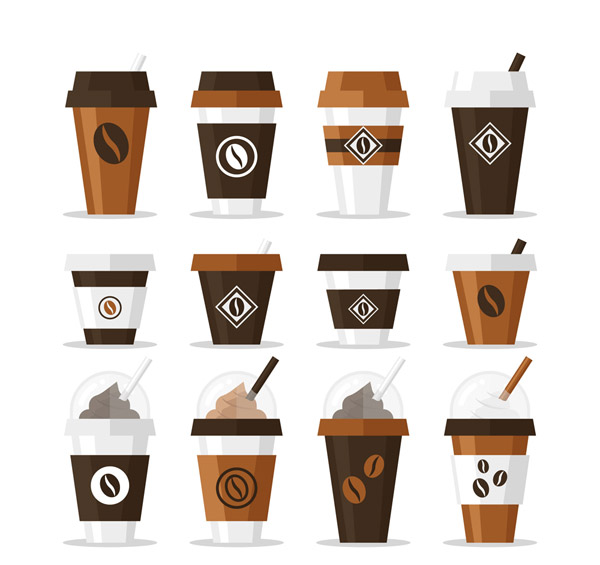 素材分类: 矢量饮品所需点数: 0 点 关键词: 12款创意外卖咖啡矢量