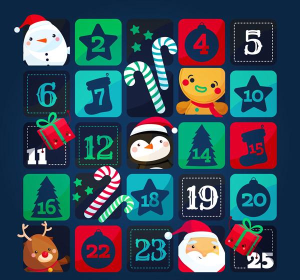 可爱圣诞月月历