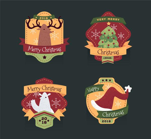 圣诞节标签矢量