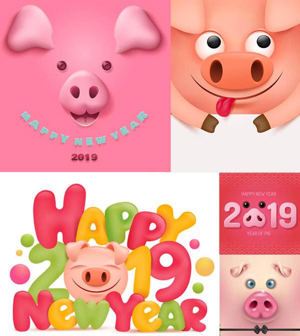 素材分类: 矢量春节所需点数: 0 点 关键词: 卡通小猪元素2019主题图片