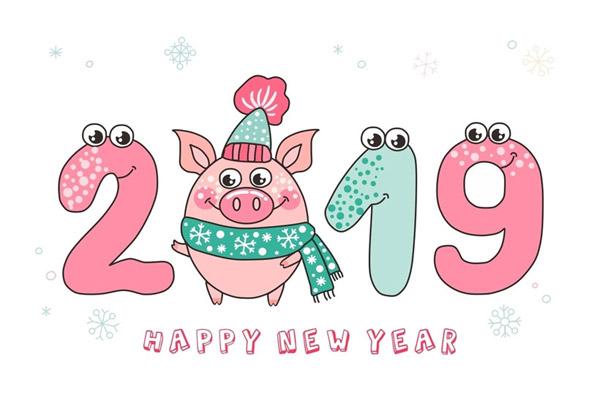 2019猪年矢量