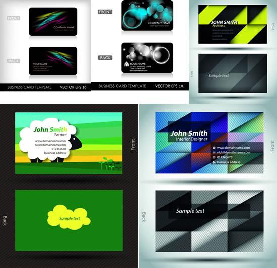 个性背景,商务名片,炫彩光晕,几何图形,云朵,商业卡片图片素材,免费名