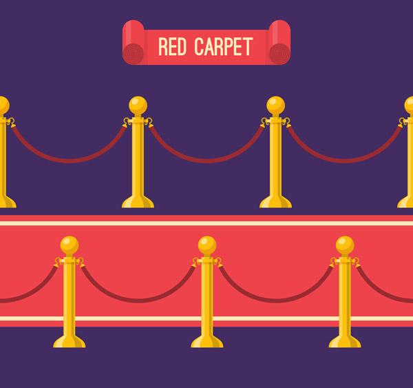 礼宾栏杆座和红毯