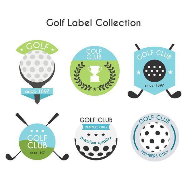 高尔夫标签设计