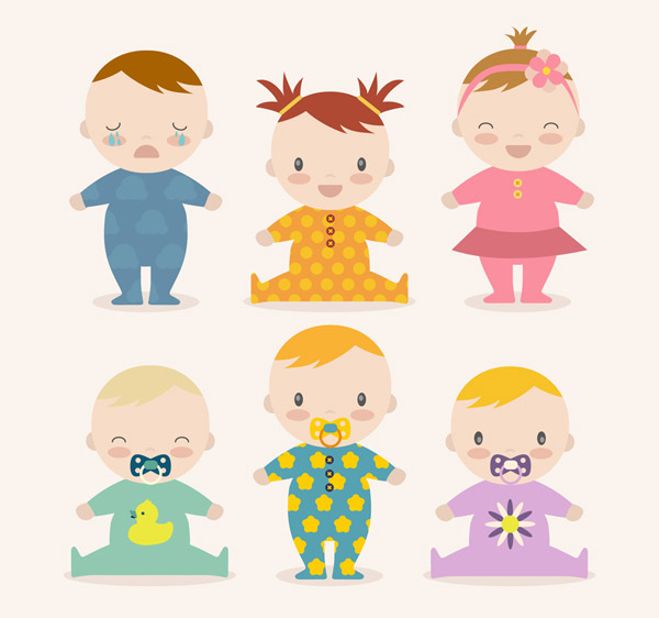 卡通婴儿设计矢量