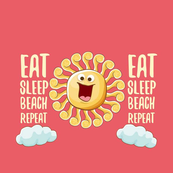 大笑夏季太阳