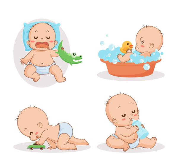 可爱婴儿动作