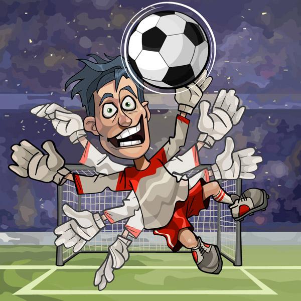 足球守门员矢量