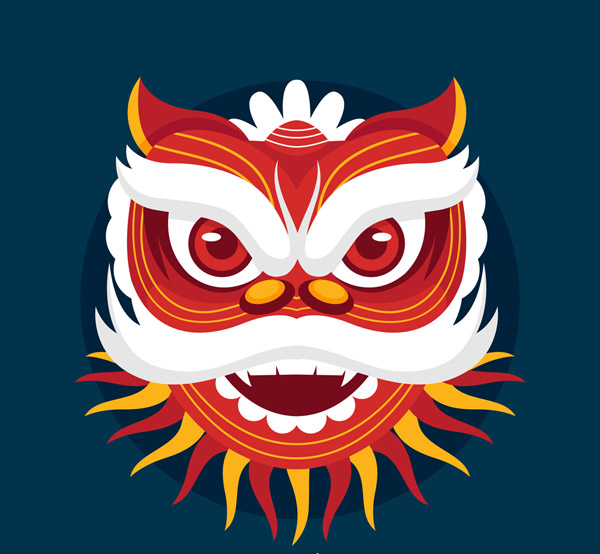节日舞狮狮头