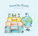 旅行箱和地球仪