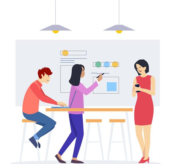素材分类: 矢量职业人物所需点数: 0 点 关键词: 创意会议中的团队