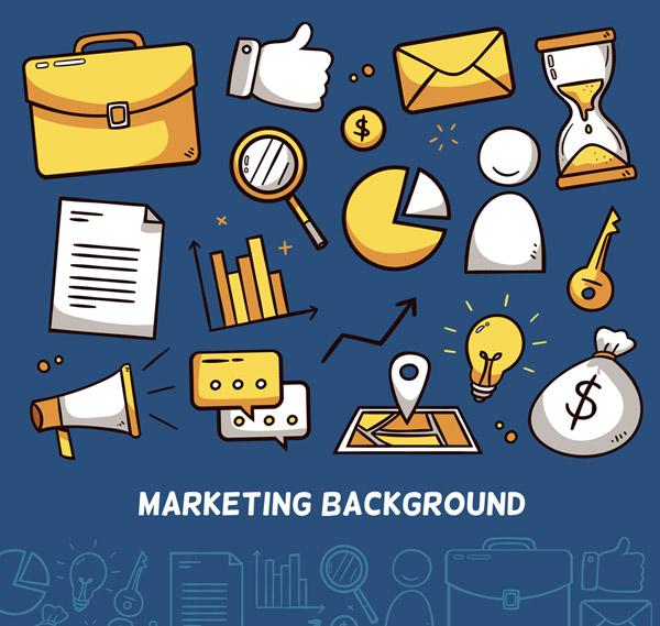 彩绘市场营销元素